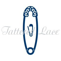 (ACD963)Tattered Lace Safety Pin