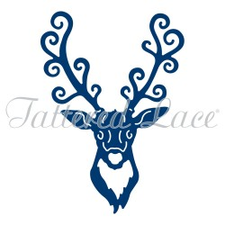 (ACD1012)Tattered Lace Stag Head