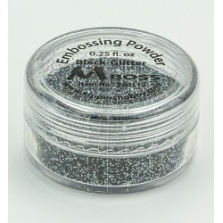 (390112)Mboss Embossing powder (Black-Glitter(Special Silver)