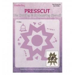 (PCD82)Presscut Die Cutting stencil Swing Die star
