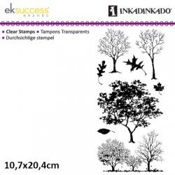 (60-30539)Inkadinkado clear stamp fall trees