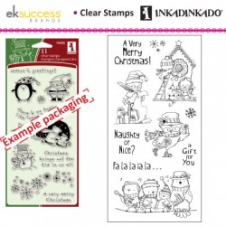(60-31154)Inkadinkado clear stamp holiday birds