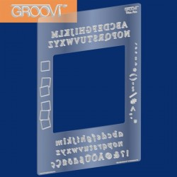 (GRO-MA-40002-07)Groovi Plate Mate (Alphabet) For A5 Squa