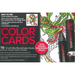 (CCO104)Chameleon color cards Tattoo