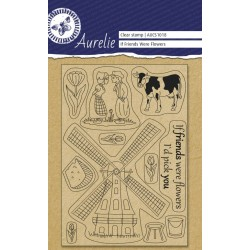 (AUCS1018)Aurelie If Friends Were Flowers Clear Stamps
