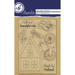(AUCS1019)Aurelie Life Is A Beautiful Ride Clear Stamps
