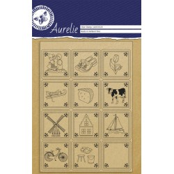 (AUCS1020)Aurelie Tiles Clear Stamps