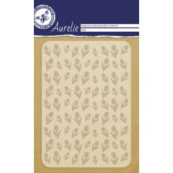 (AUEF1021)Aurelie Tulips Background Embossing Folder