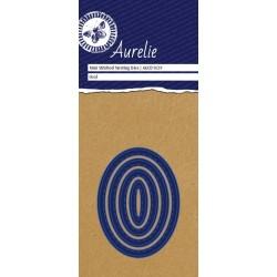 (AUCD1029)Aurelie Stitched Oval Mini Nesting Die