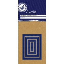 (AUCD1031)Aurelie Stitched Rectangle Mini Nesting Die