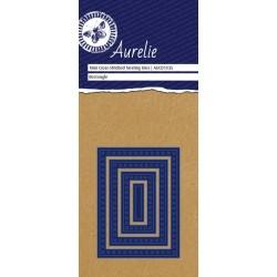 (AUCD1035)Aurelie Cross-Stitch Rectangle Mini Nesting Die