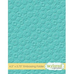 (TEEF34)Taylored Expressions Flower Power Embossing Folder