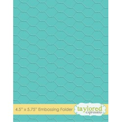 (TEEF25)Taylored Expressions Chicken Wire Embossing Folder