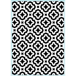 (KB102)Elizabeth Craft Design Embossing folder Trendy Tiles 1