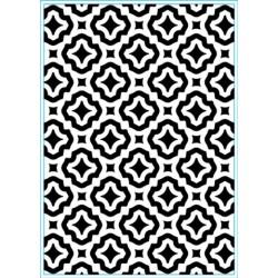 (KB102)Elizabeth Craft Design Embossing folder Trendy Tiles 1