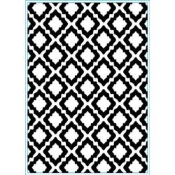 (KB103)Elizabeth Craft Design Embossing folder Trendy Tiles 2
