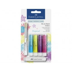 (FC-121807)Faber Castell Mix & Match Gelatos Tropical 6pc