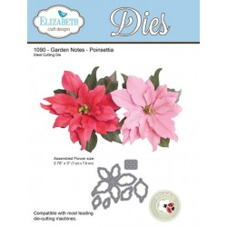 (SKU1090)Elizabeth Craft Design Die Garden Notes - Poinsettia