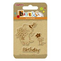 (SCB4907039)ScrapBerry's Clear Stamps Basik & Co Birthday
