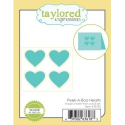 (TE755)Taylored Expressions Peek-A-Boo Hearts