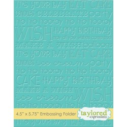 (TEEF30)Taylored Expressions Graphic Impressions Birthday Emboss