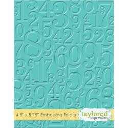 (TEEF29)Taylored Expressions Take A Number Embossing Folder