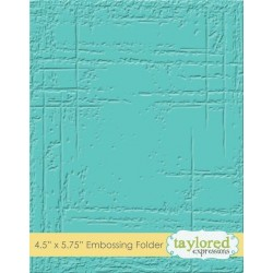 (TEEF31)Taylored Expressions Weathered Embossing Folder