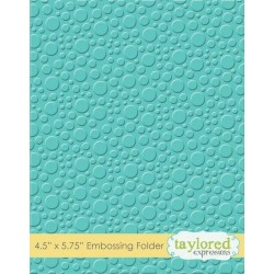 (TEEF26)Taylored Expressions Bubbles Embossing Folder