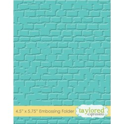 (TEEF18)Taylored Expressions Brick Embossing Folder
