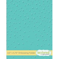 (TEEF13)Taylored Expressions Raindrops Embossing Folder