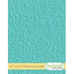(TEEF23)Taylored Expressions Floral Vine Embossing Folder