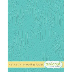 (TEEF17)Taylored Expressions Woodgrain Embossing Folder