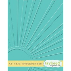 (TEEF14)Taylored Expressions Walking On Sunshine Embossing Folde