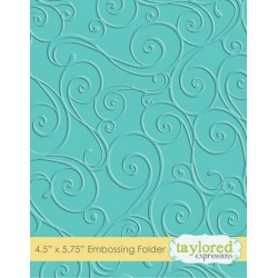 (TEEF05)Taylored Expressions Twirls & Swirls Embossing Folder