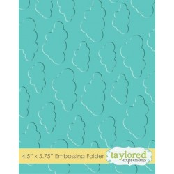 (TEEF03)Taylored Expressions Cloudy Days Embossing Folder