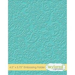 (TEEF33)Taylored Expressions Paisley Embossing Folder