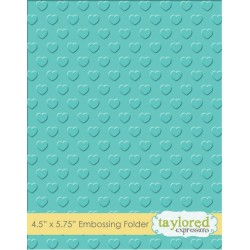 (TEEF39)Taylored Expressions Swiss Hearts Embossing Folder