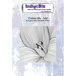 (IND0241)IndigoBlu Colour Me Lily A6 Rubber Stamp