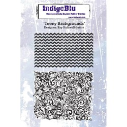 (IND0221PC)IndigoBlu Teeny Backgrounds A6 Rubber Stamp