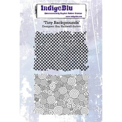 (IND0220)IndigoBlu Tiny Backgrounds A6 Rubber Stamp
