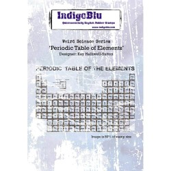 (IND0171)IndigoBlu Periodic Table Of Elements A6 Rubber Stamp