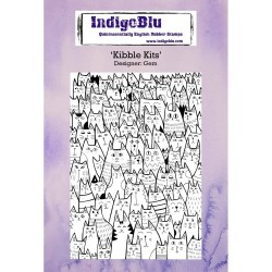 (IND0234)IndigoBlu Kibble Kits A6 Rubber Stamp