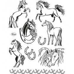 (4003 139 00)Clear Stamps - Pferde