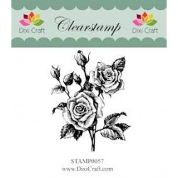 (STAMP0057)Dixi Clear Stamp roses
