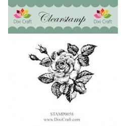 (STAMP0058)Dixi Clear Stamp roses