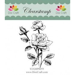 (STAMP0059)Dixi Clear Stamp roses
