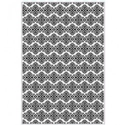 (EF-068)Embossing folder A4 Blossom Brocade