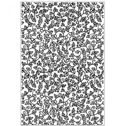 (EF-066)Embossing folder A4 Eternal Ivy