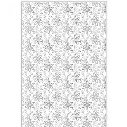 (EF-064)Embossing folder A4 Dotty Daisy