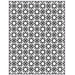 (EF-061)Embossing folder Victorian Tile